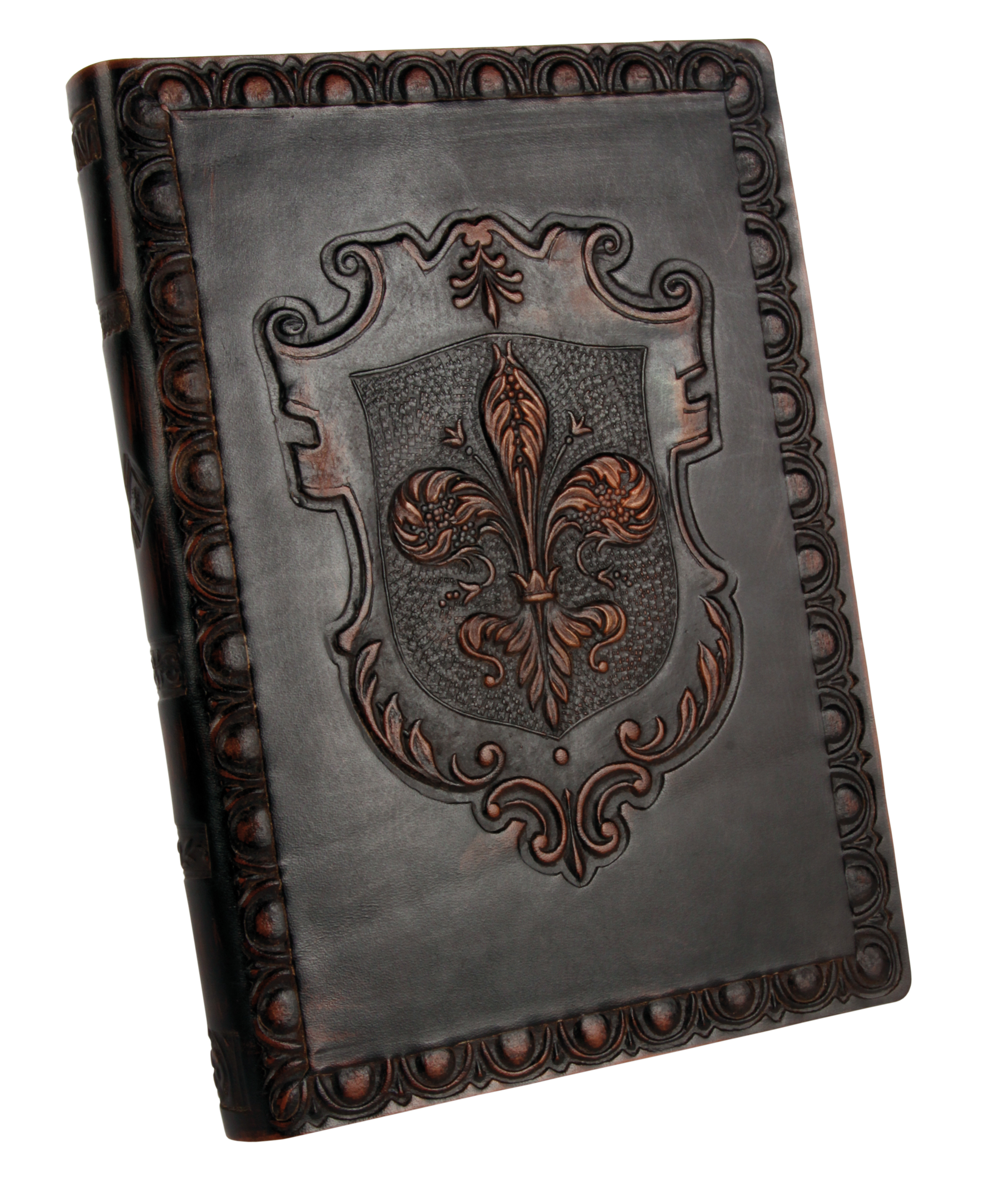 Block Style Genuine Leather Journal