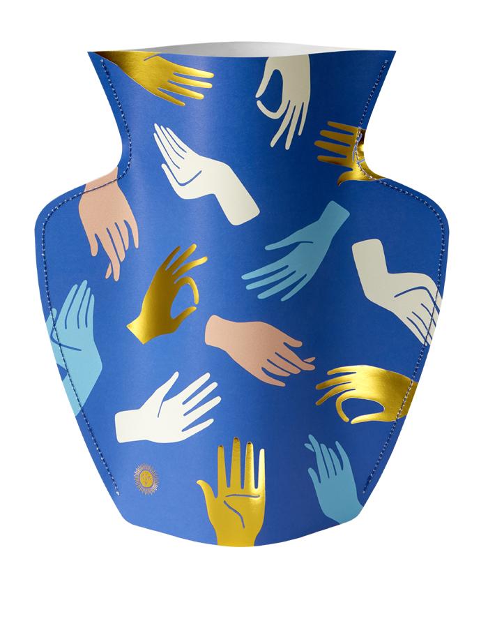 Paper Vase Hamsa