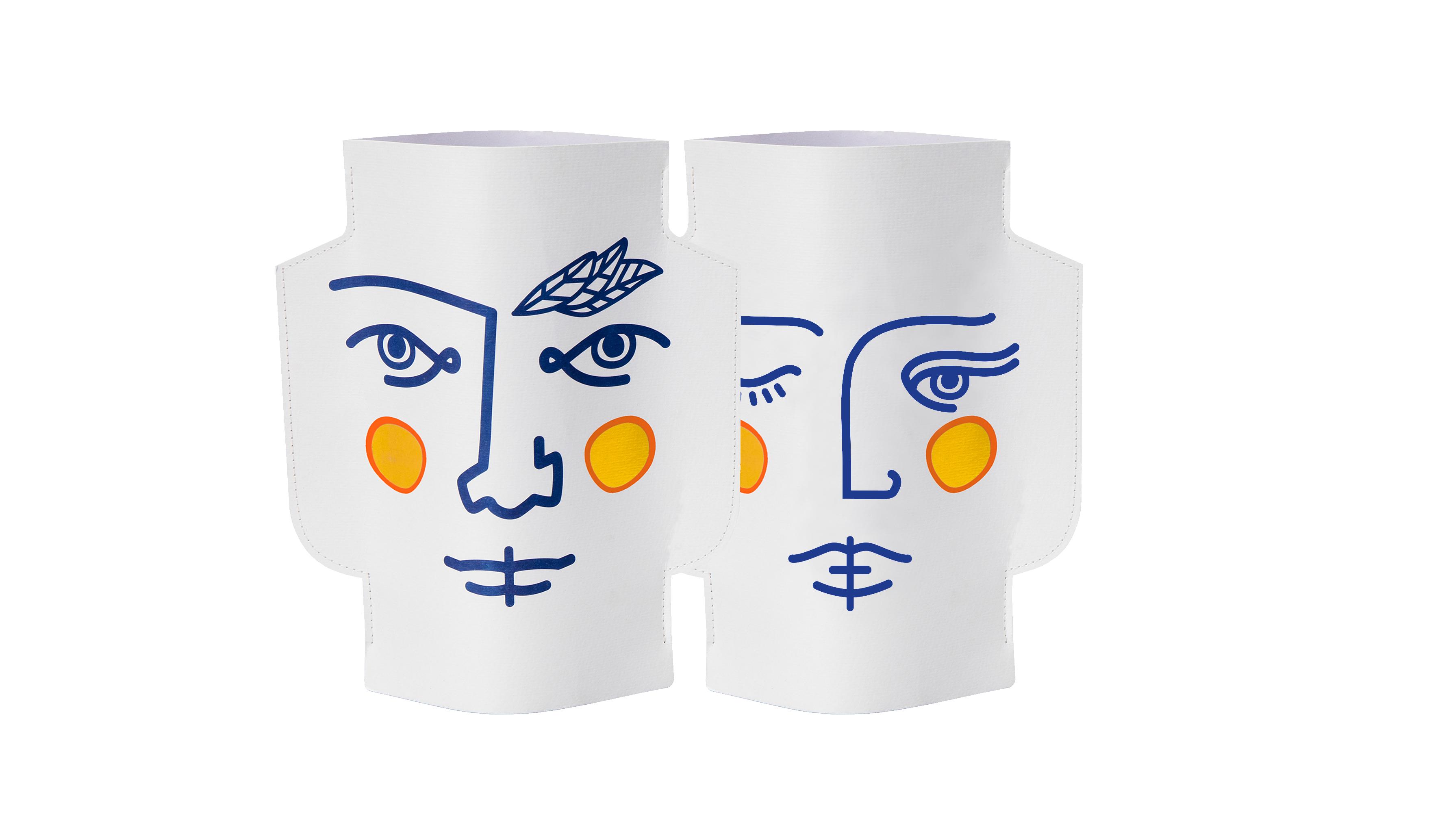 Mini Paper Vase Janus