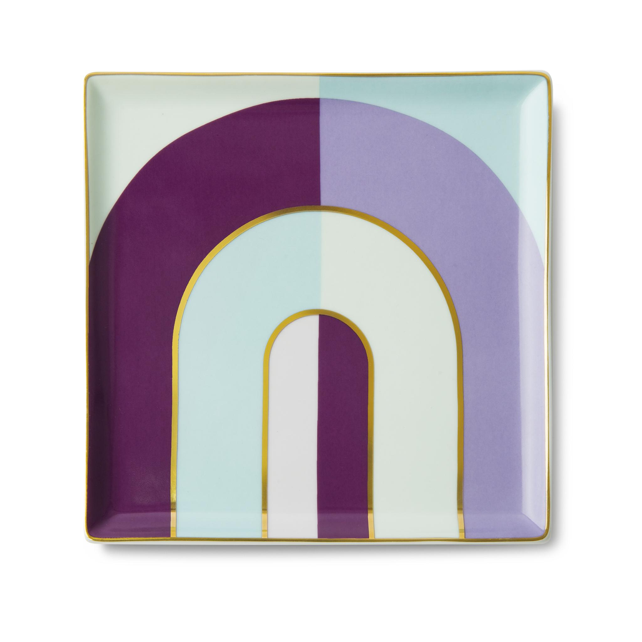 Ceramic Tray Riviera Arch Purple