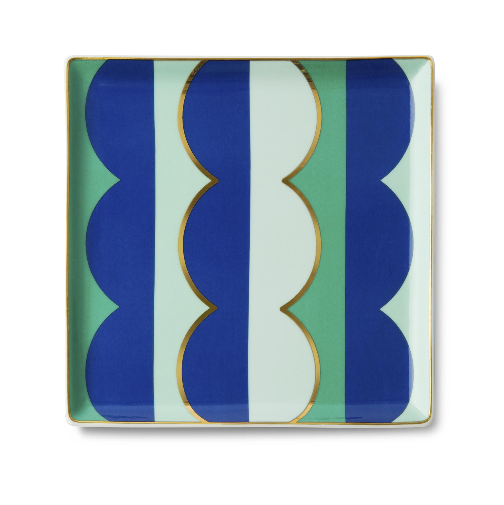 Ceramic Tray Riviera Wave Blue