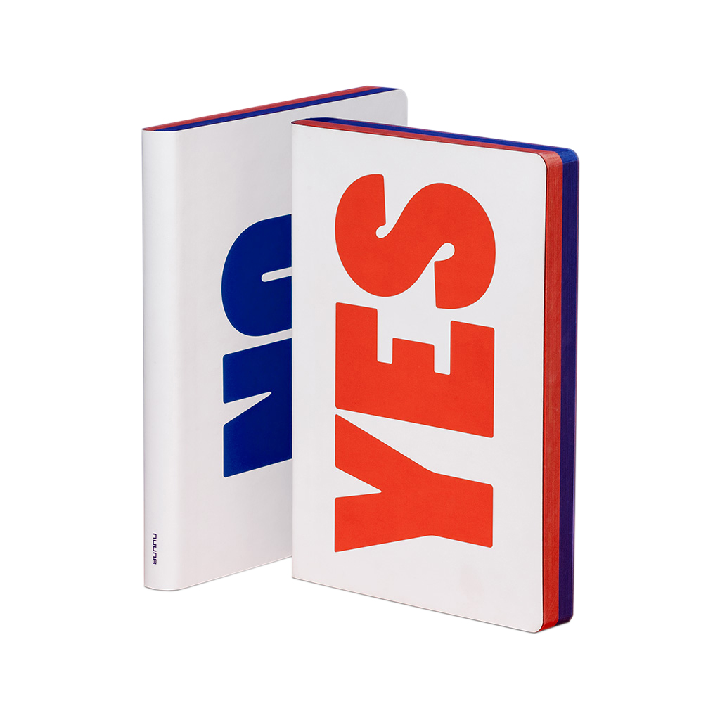 YES – NO Red & Blue Screen Print